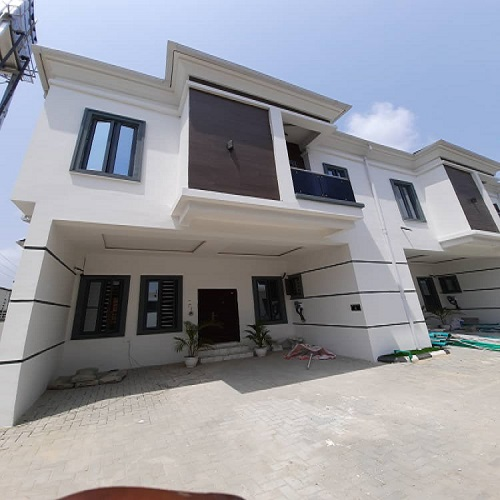 Property, land, houses for sale, Lease and Rent in Nigeria - 4 Bedroom Terrace Duplex for sale at Ikota Lekki, Serviced Affordable Luxury with Approved Building Plan
