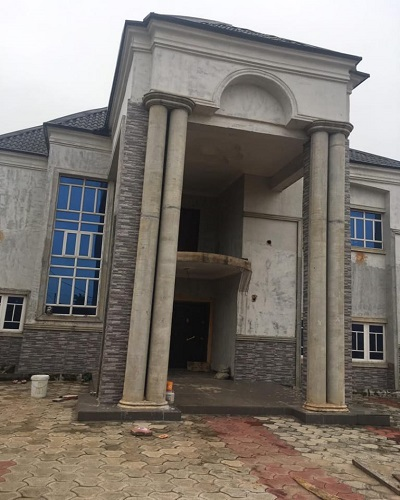 5 bedroom uncompleted  duplex around pascal dozies house Egbu Owerri Imo State Imo State