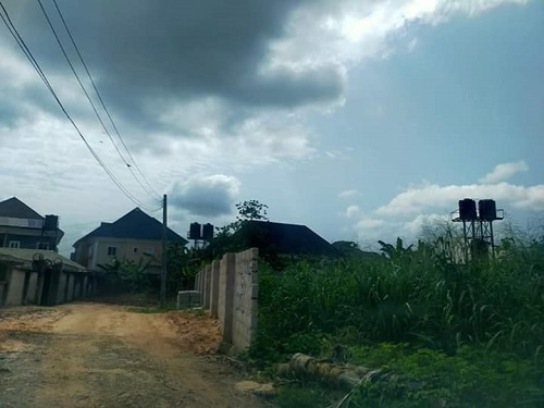 Property for Sale - Houses and Land for Sale - Buy Property in Nigeria - One Plot of land Fenced, Federal Allocation Opposite Federal Girls College, Okigwe Road Owerri for sale