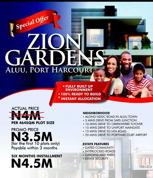 Property, land, houses for sale, Lease and Rent in Nigeria - Plots of land for sale at Zion gardens aluu, port harcourt